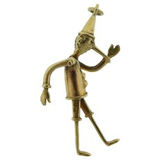 14 Karat Gold Pinocchio Charm