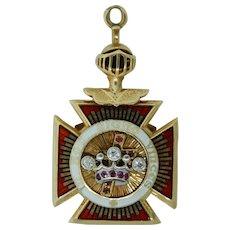 Masonic Knights Templar York Rite Pendant Fob