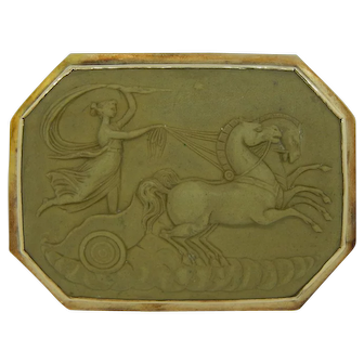 Genuine Lava Cameo Depicting Diana Goddess Of The Hunt