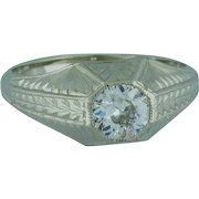 Half Carat Old European Cut Solitaire Engagement Diamond Ring