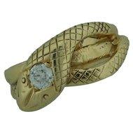 14 Karat Yellow Gold Snake Ring