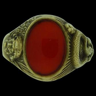 Vintage Carnelian Ring In 14 Karat Gold