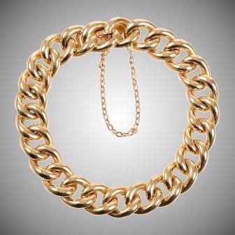 18 KT Solid Link Bracelet