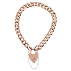 English 9 KT Rose Gold Link Bracelet