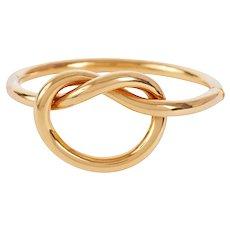 Vintage Love Knot 18 KT Gold Bangle