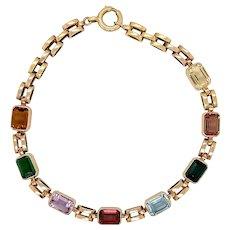 Vintage 18 KT Gold Harlequin Bracelet