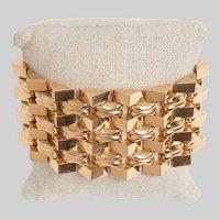 Retro 1940s 18KT Gold Tank Bracelet