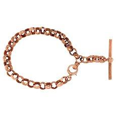 Antique 9 KT Rose Gold Bracelet with Toggle