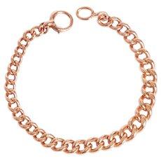 Antique 9KT Rose Gold Graduating Link Bracelet