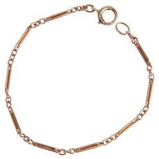 Delicate Antique 9KT Interlocking Link Bracelet