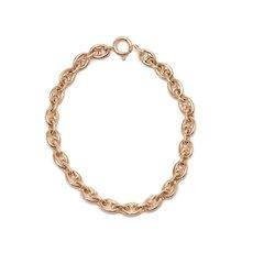 Vintage 14 KT Gold Button Link Bracelet