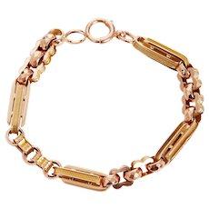 Antique Interlocking Fancy Links Bracelet