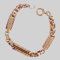 Antique Large Engraved Fancy Link Bracelet