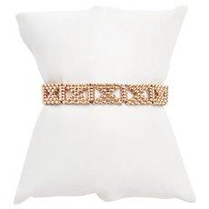 Antique X Link 15 KT Rose Gold Bracelet