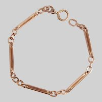 Antique Fancy Interlocking Paper Clip Link Bracelet