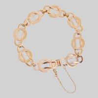 Vintage 14KT Fancy Link Bracelet