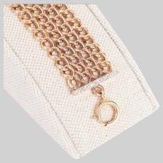 4 Row Antique Bracelet with Diamond Bars