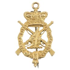 15 KT. Yelow Gold English Military Brooch
