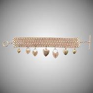 Only Hearts 9 KT Rose Gold Chain Link Bracelet