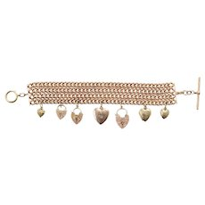 Only Hearts 9 KT Rose Gold Chain Link Bracelet