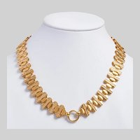 Outstanding Victorian 18KT Gold Book Chain Collar Necklace