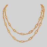 "22 KT Custom Friendship Knot Link 34"" Chain Necklace"