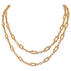 """22 KT Custom Friendship Knot Link 34"""" Chain Necklace"""