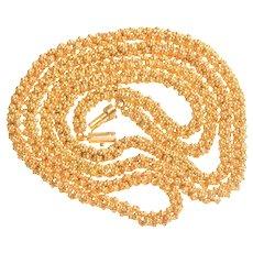 18 KT Gold Handmade Fancy Link Chain