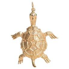 14 KT Gold Turtle Pendant