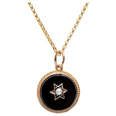 Pendant onyx gold jewelry ruby lane victorian onyx and pearl set in 14 kt gold pendant aloadofball Image collections