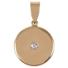 Vintage 14 KT Gold and Diamond Locket