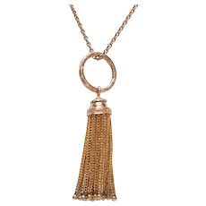 Antique Tassel with Carved Split Ring Top