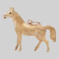 Vintage 14 KT Gold Standing Horse Pendant / Charm