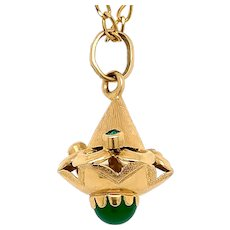 18 KT Gold Top Shaped Charm / Pendant
