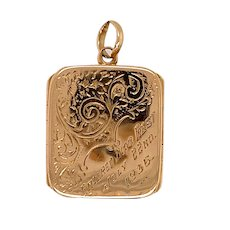 Antique 9 KT Rose Gold Double Opening Locket
