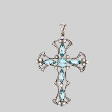 Antique Silver 2 Sided Cross