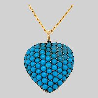 Antique Turquoise Heart Locket