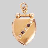 Antique English Shield Shape Locket