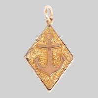 Antique 14 KT Gold Anchor Motif Locket