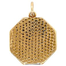 Antique 18KT Gold Honeycomb Locket
