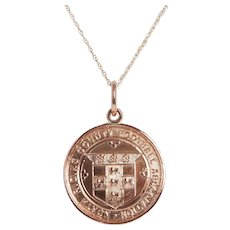 Antique Football Club Medallion Pendant