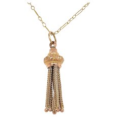 Antique 9KT Gold Tassel Pendant