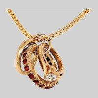 Vintage 9KT Gold 3 Rings Charm / Pendant