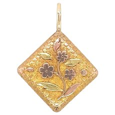 Antique 14 KT Gold Pillow Charm / Pendant