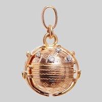 Antique 20KT Gold and Diamond Orb Photo Locket