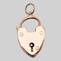 Antique Heart Padlock Pendant