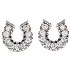Lucky Horseshoe Diamond Earrings