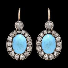 Earrings  Antique Jewelry