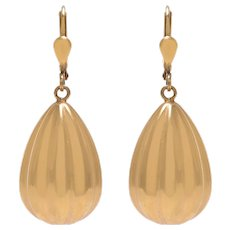 14 KT Antique Pendulum Drop Earrings