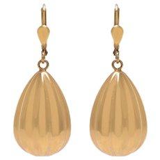 14 KT Antique Pendulum Drop Earrings